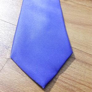 Brand Q Men's Purple Tie with Pocket Square
